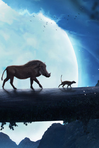 480x800 The Lion King Simba Pumbaa Timon