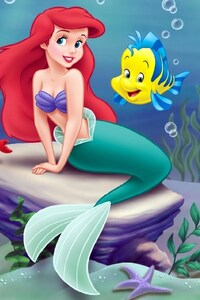 1280x2120 The Little Mermaid Animated Movie