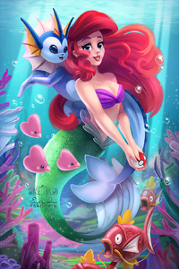 1280x2120 The Little Mermaid Digital Art
