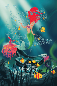 320x568 The Little Mermaid Poster 4k