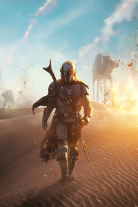 720x1280 The Mandalorian 4k Artwork 2020
