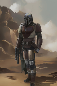 1080x1920 The Mandalorian 4k Artwork