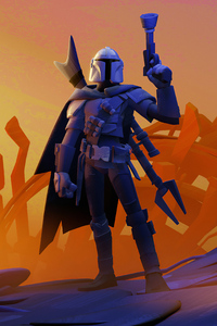 1440x2560 The Mandalorian 4kartwork New