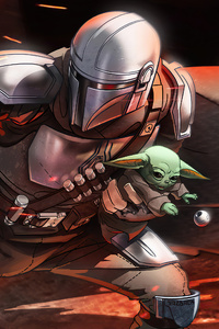 The Mandalorian Baby Yoda 5k
