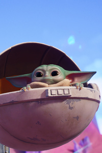 1242x2688 The Mandalorian Baby Yoda Fortnite