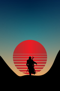 480x800 The Mandalorian Star Wars Minimal 4k