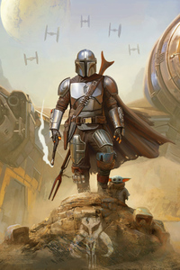 480x854 The Mandalorian Star Wars Official 4k