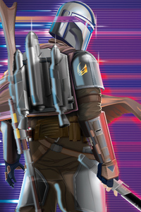 480x854 The Mandalorian Synthwave 2020