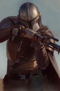 1440x2960 The Mandalorian Yoda 4k 2020