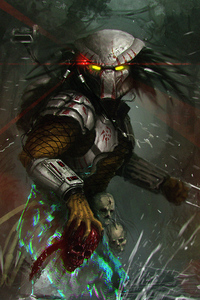 1242x2688 The Predator Artwork 4k