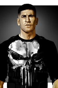 320x480 The Punisher Artwork