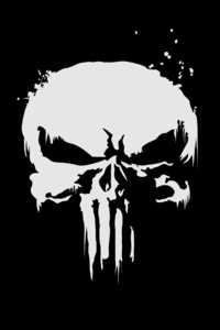 720x1280 The Punisher Logo 4k