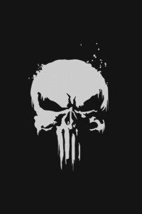 1125x2436 The Punisher Minimalist Logo 4k