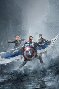 1280x2120 The Return Of Captain America 4k