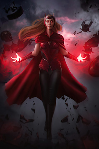 750x1334 The Scarlet Witch Wanda Vision 4k