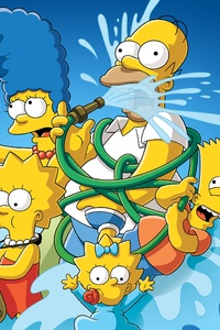 640x1136 The Simpsons 4k