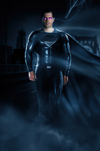 800x1280 The Superman Black Suit 4k