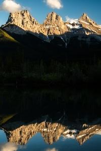 1440x2560 The Three Sister Alberta 5k