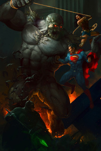 The Trinity Vs Doomsday Art