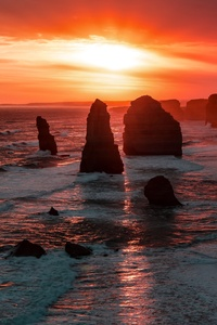 The Twelve Apostles Coastline Rock Sunset 5k