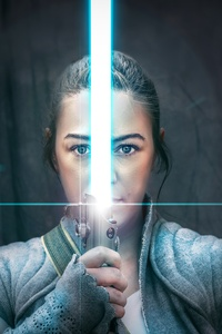 1440x2560 The Weapon Of A Jedi Knight Rey Cosplay