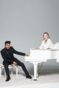 The Weeknd Courtney Love Harpers Bazaar 2017