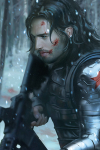 1080x2160 The Winter Soldier 5k