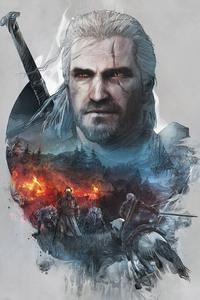 The Witcher 3 Geralt of Rivia Artwork