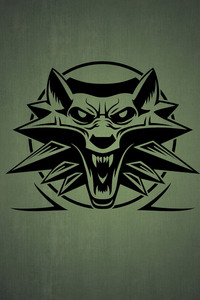 2160x3840 The Witcher 3 Logo