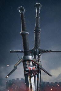 640x1136 The Witcher 3 Sword