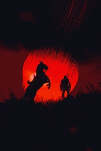 1440x2960 The Witcher 3 Wild Hunt Minimalist Art 4k