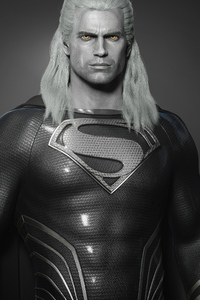 The Witcher Geralt Black Superman Henry Cavill 4k