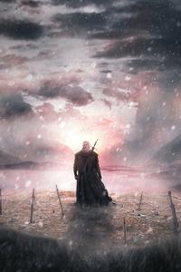2160x3840 The Witcher Journey 4k