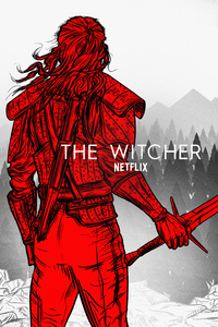 240x320 The Witcher Netflix Art 5k