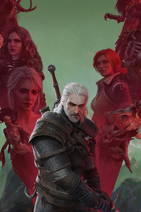 480x854 The Witcher Wild Hunt 4k 2020
