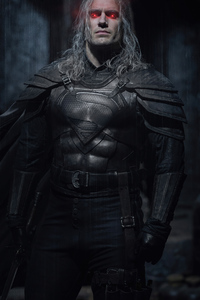 320x568 The Witcher X Superman 4k