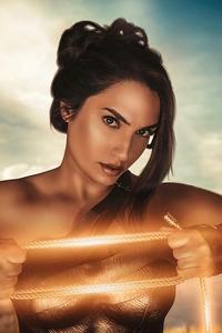 1242x2688 The Wonder Woman Cosplay 4k