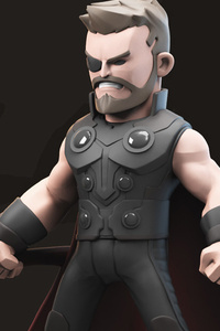 Thor 3d Avengers Infinity War Artwork