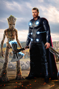 Thor And Groot