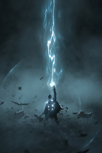 1080x2160 Thor Artwork 4k 2020