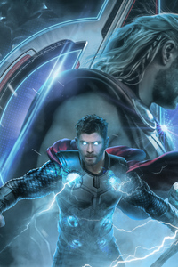 640x1136 Thor Avengers End Game 2019