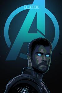 1440x2560 Thor Avengers Endgame 4k