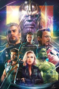 Thor Black Widow Hulk In Avengers Infinity War Artwork 2018