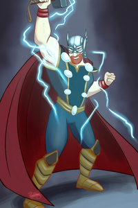 Thor Cartoony Art