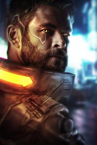 1080x2280 Thor Cyberpunk 2077 4k