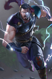 480x800 Thor God Of Thunder 4k 2020