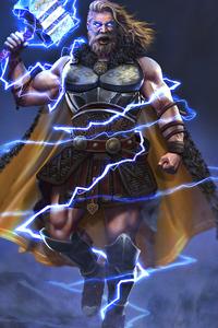 640x960 Thor God Of Thunder 5k