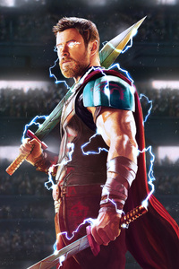 320x480 Thor God Of Thunder Artwork HD