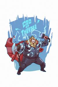 640x1136 Thor God Thunder
