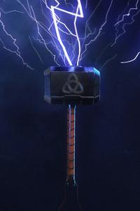 1080x1920 Thor Hammer 4k New
